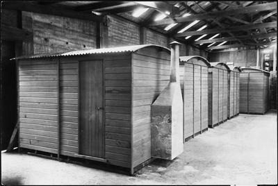 Ellis & Burnand - mill huts in building - Hamilton?