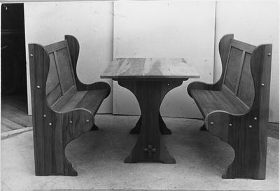 Ellis & Burnand - sample product - table and bench chairs