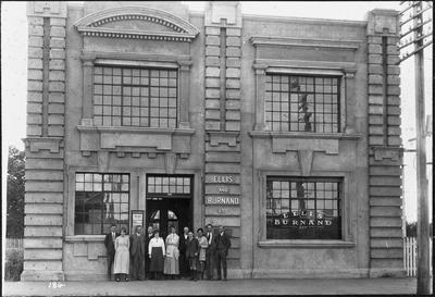Ellis & Burnand - staff outside Head Office on Victoria Street