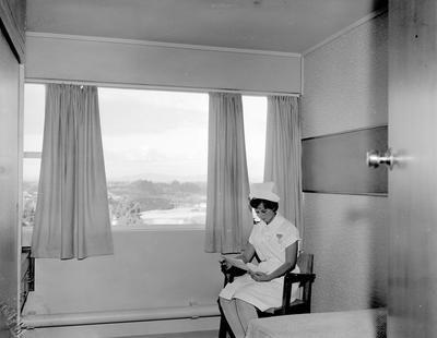 A nurse in a room at Waikato Hospital
