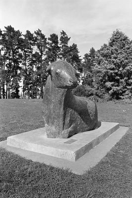 Little Bull sculpture at Hamilton Gardens