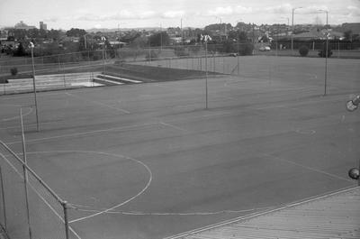 Netball courts at Hamilton Gardens