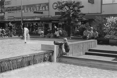 The original Garden Place fountains