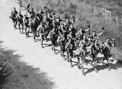 Troops leaving town