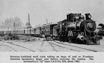 Rotorua - Auckland mail train