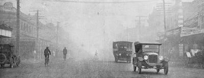 Peat fire smog