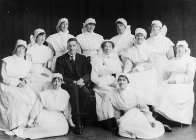 Dr. Budd and nurses