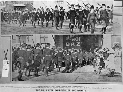 School cadets at the Waikato Winter Show