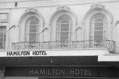 Hamilton Hotel balcony