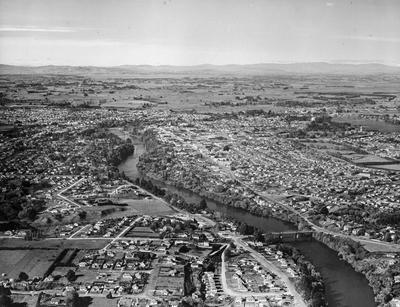 Aerial photo of Hamilton