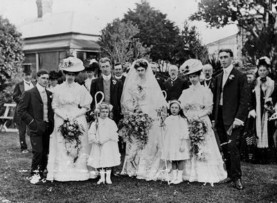 Wedding portrait of Douglas family