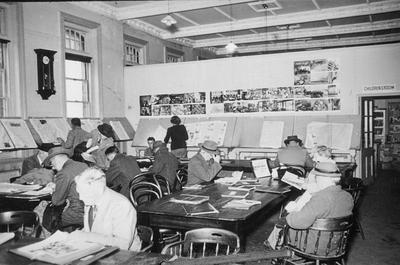 The Carnegie Library's newspaper reading room