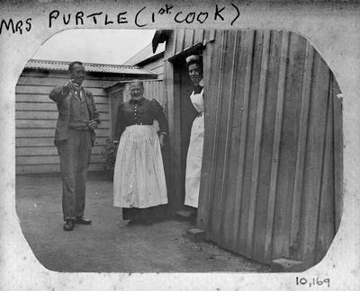 Dr. H. Douglas, Nurse Rothwell and 1st Cook at Waikato Hospital