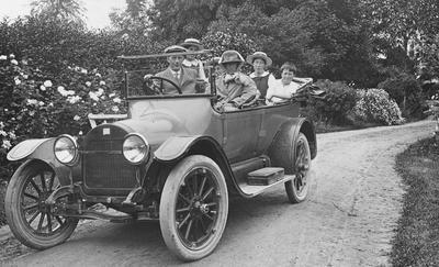 Douglas Family sitting in car