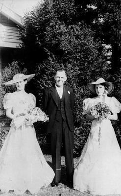 Wedding portrait of the Douglas family