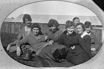 Group photo including Margaret Douglas