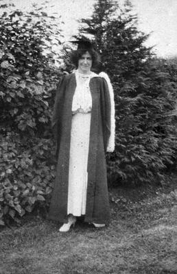 Lady in academic gown at Hamilton High School