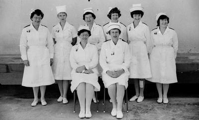Waikato Hospital nurses group photo