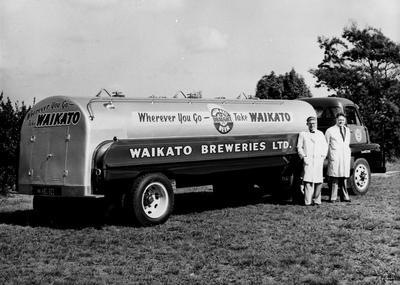 A Waikato Breweries tanker