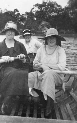 Off duty nurses at Hamilton Lake