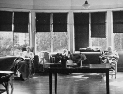 Lounge on Ward 18 of the Waikato Hospital