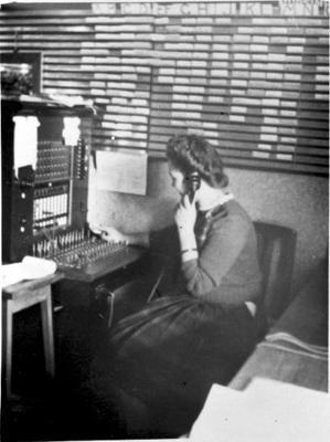 Telephonist at the nurses's home at the Waikato Hospital