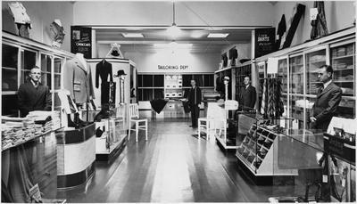 Interior of Hugh Wrights shop