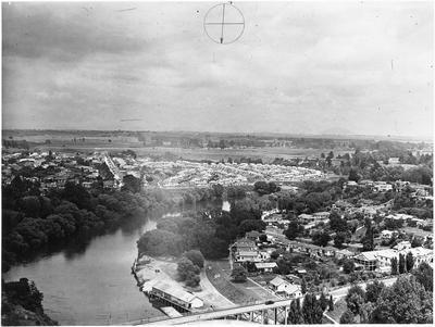 Aerial view of Hamilton: Hamilton East and Tisdall Street