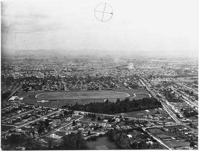 Aerial view of Hamilton: Claudelands