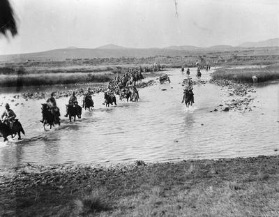 Boer War mounted troops