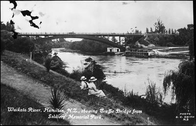 Traffic Bridge from Memorial Park, Waikato River, Hamilton