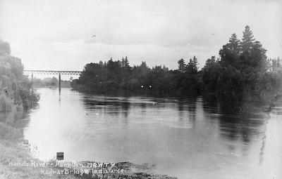 Railway bridge, Waikato River, Hamilton