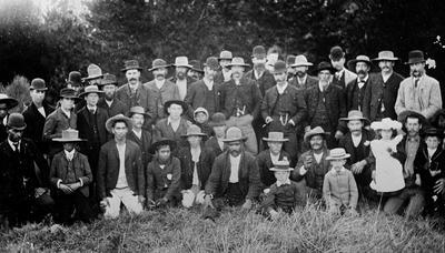 Gathering of people, location unknown
