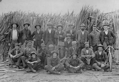 Employees at Coates Flax Mill