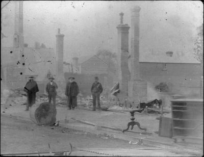 Victoria Street, Hamilton, following a fire