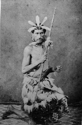 Portrait of a man kneeling