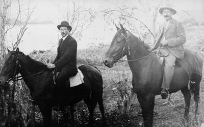 Two men on horseback
