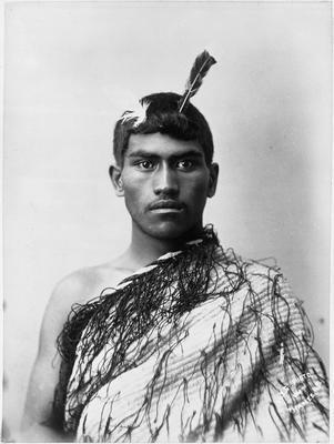 Young Maori man in Korowai