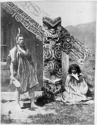 Aporo and Ngareta at Wairoa