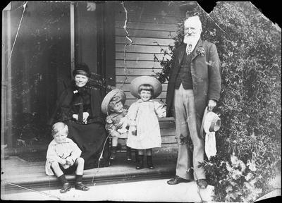 Alfred Cox and wife and grandchildren
