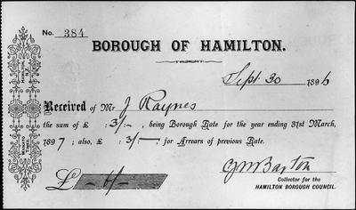 Hamilton Borough - Rates demand
