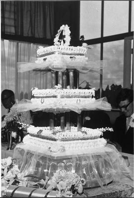 Wedding cake baked and decorated by W Moody