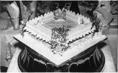 Christening cake baked and decorated by W Moody