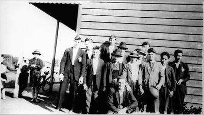 Group of men at Mercer