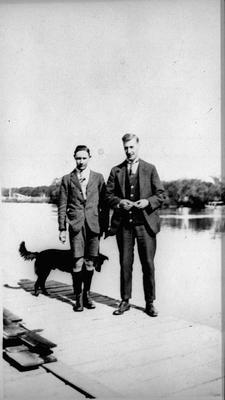 Two men and a dog - Mercer