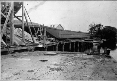 Launching a barge - Mercer
