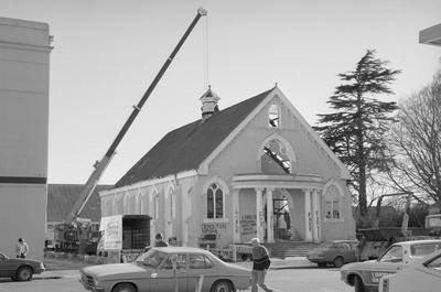 Demolition of  Hamilton Baptist Church in London Street