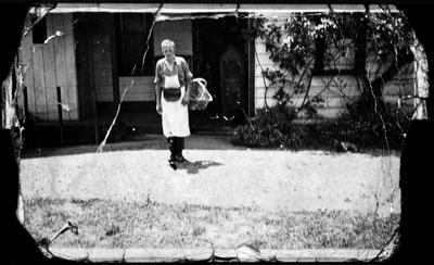 Mr Hole delivering bread