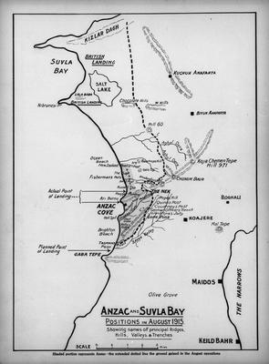 Map: ANZAC and SUVLA Bay