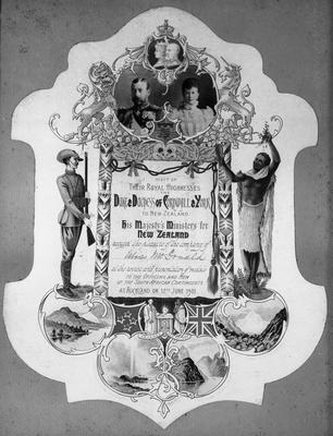 Invitation - Presentation of medals - South African War (Boer War)